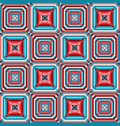 geometric square seamless pattern vector image