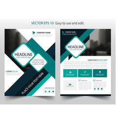 Green brochure annual report flyer design vector
