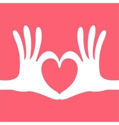 Hand heart gesture vector