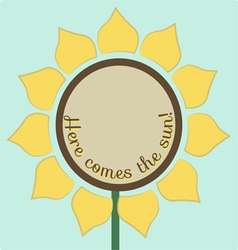 Here comes the sun vector