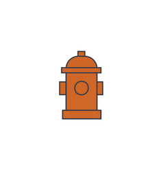 hydrant line icon concept hydrant flat vector image