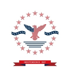 independence day USA background vector image