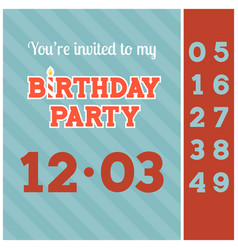 Invitation birthday party card template vector