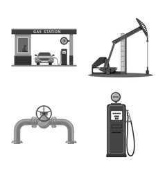 isolated object of oil and gas logo collection of vector image