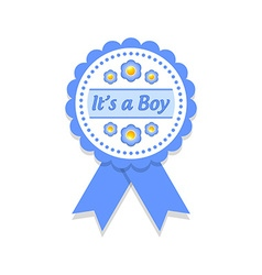 Its a boy badge vector image