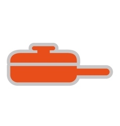 kitchen pan isolated icon design vector image