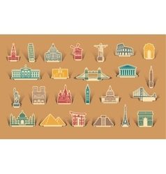 Label tourist attractions vector image