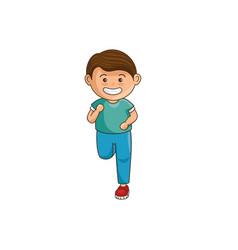 Little boy athlete character vector
