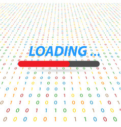 Loading data digital on the computer vector