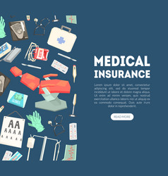 medical insurance landing page template vector image
