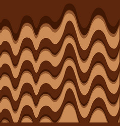 Melted chocolate sweet pattern design vector