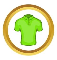 Mens green polo icon vector image