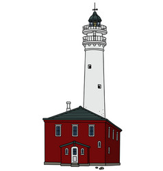 old stone lighthouse vector image