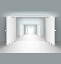 Open Doors Isolated vector image