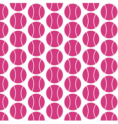 Pattern background tennis ball icon vector