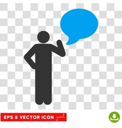 Person idea balloon eps icon vector