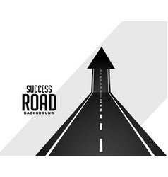Perspective road pathway with upward arrow vector