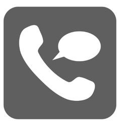 Phone Message Flat Squared Icon vector
