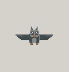 Pixel owl vector