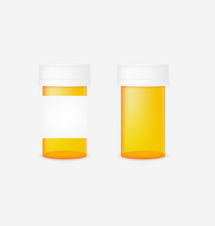 realistic pill bottle vector image