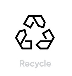 recycle icon editable outline vector image