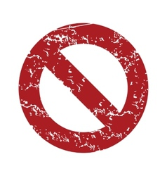 Red grunge sign ban logo vector image
