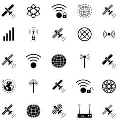 satellite icon set vector image