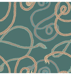 Seamless pattern with ropes vector image