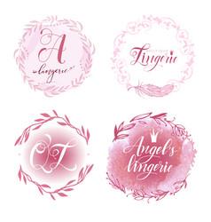 Set lingerie logo vector