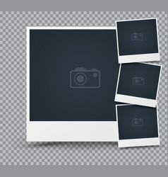 set of photo frame vector image