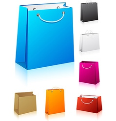Set of shopping bags vector image