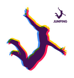 silhouette of a jumping man design for sport vector image