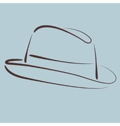 Sketched hat vector image