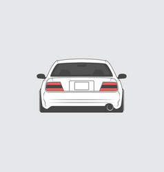 Sport japan car back view vector
