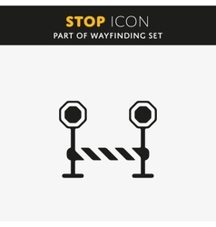 Stop Icon vector image