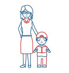 Teacher and boy design vector