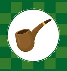 Tobacco pipe st patricks day vector