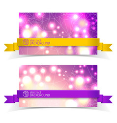 two banner set for design vector image