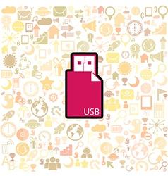 Usb Stick icon vector