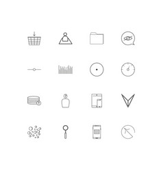 User interface linear thin icons set outlined vector