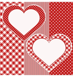 Valentine Card with two hearts vector image