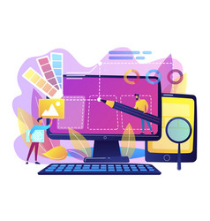 Web design development concept vector