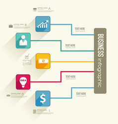 Web infographic flowchart concept vector