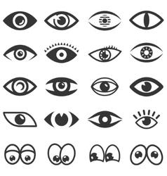 Eyes icon set vector image vector image