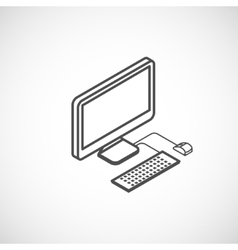 isometric icon of computer vector image vector image