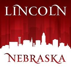 Lincoln Nebraska city skyline silhouette vector image vector image