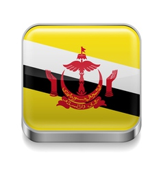 Metal icon of Brunei vector image