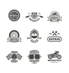 race motorcycle motorbike repair retro vector image vector image
