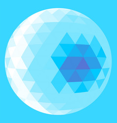light blue triangle sphere vector image