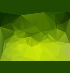 low polygonal green magic vector image vector image